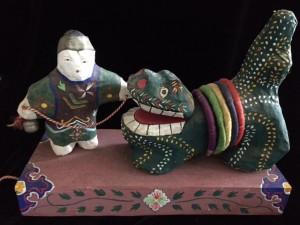 郷土玩具:竜の土人形